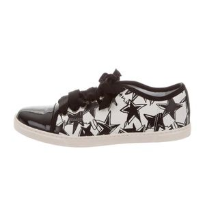 Lanvin leather abstract print sneaker 38